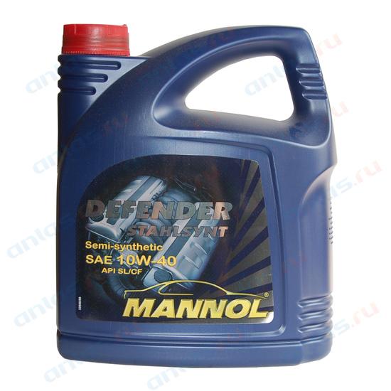 MANNOL 10W-40 STAHISYNT DEFENDER SL п/синт - 4л